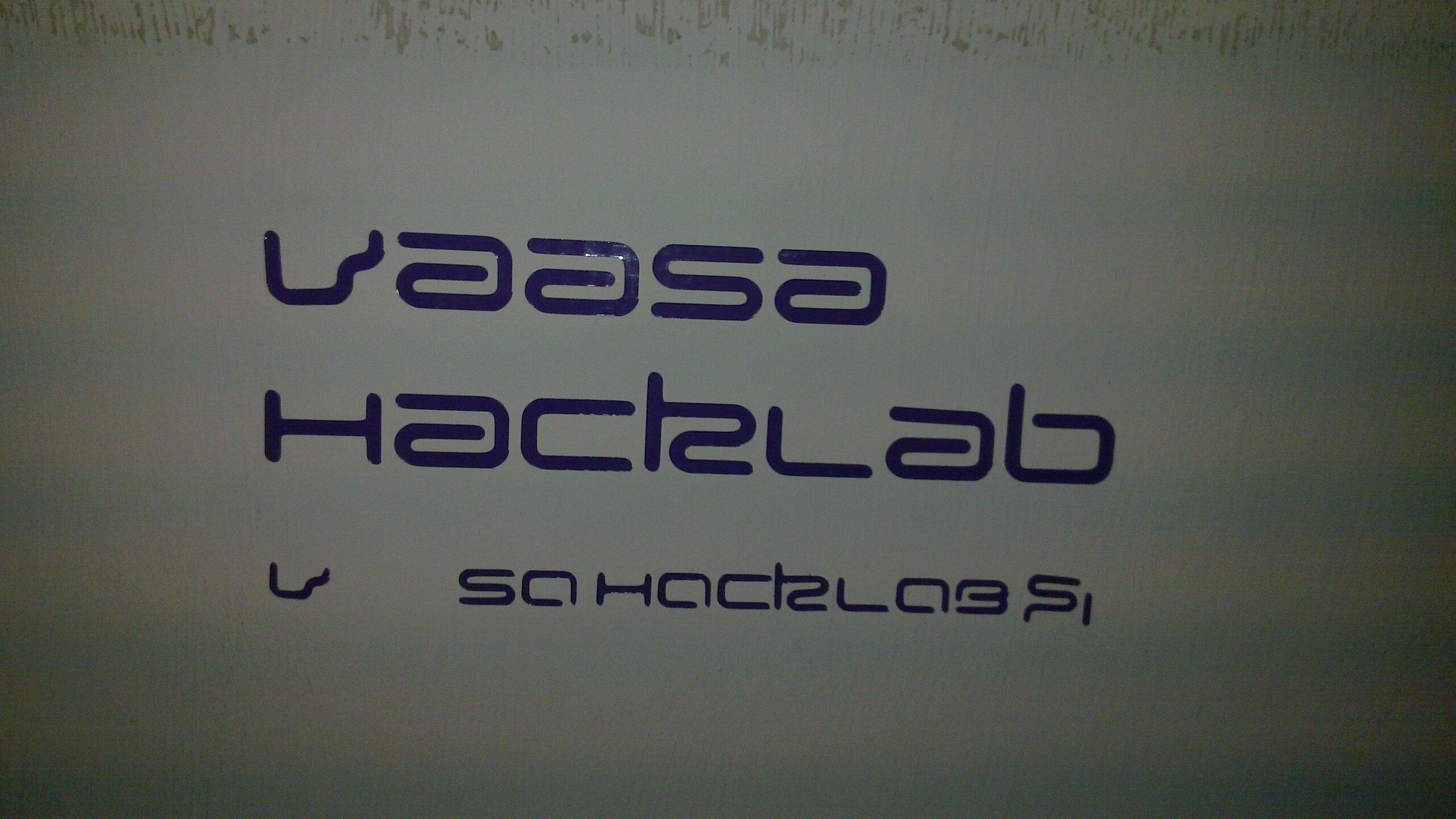 Vinyl cut Vaasa Hacklab
