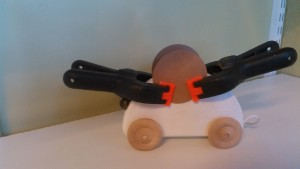 Wheels and axles glued and ears of the mouse in the works