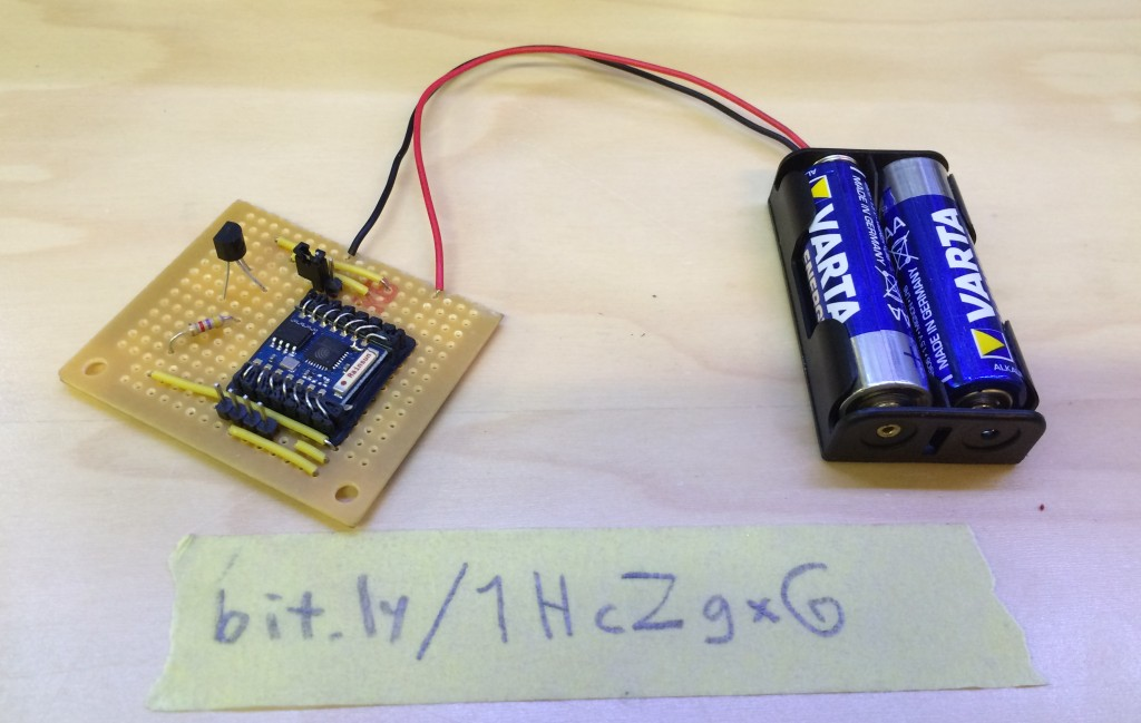 Battery powered ESP8266