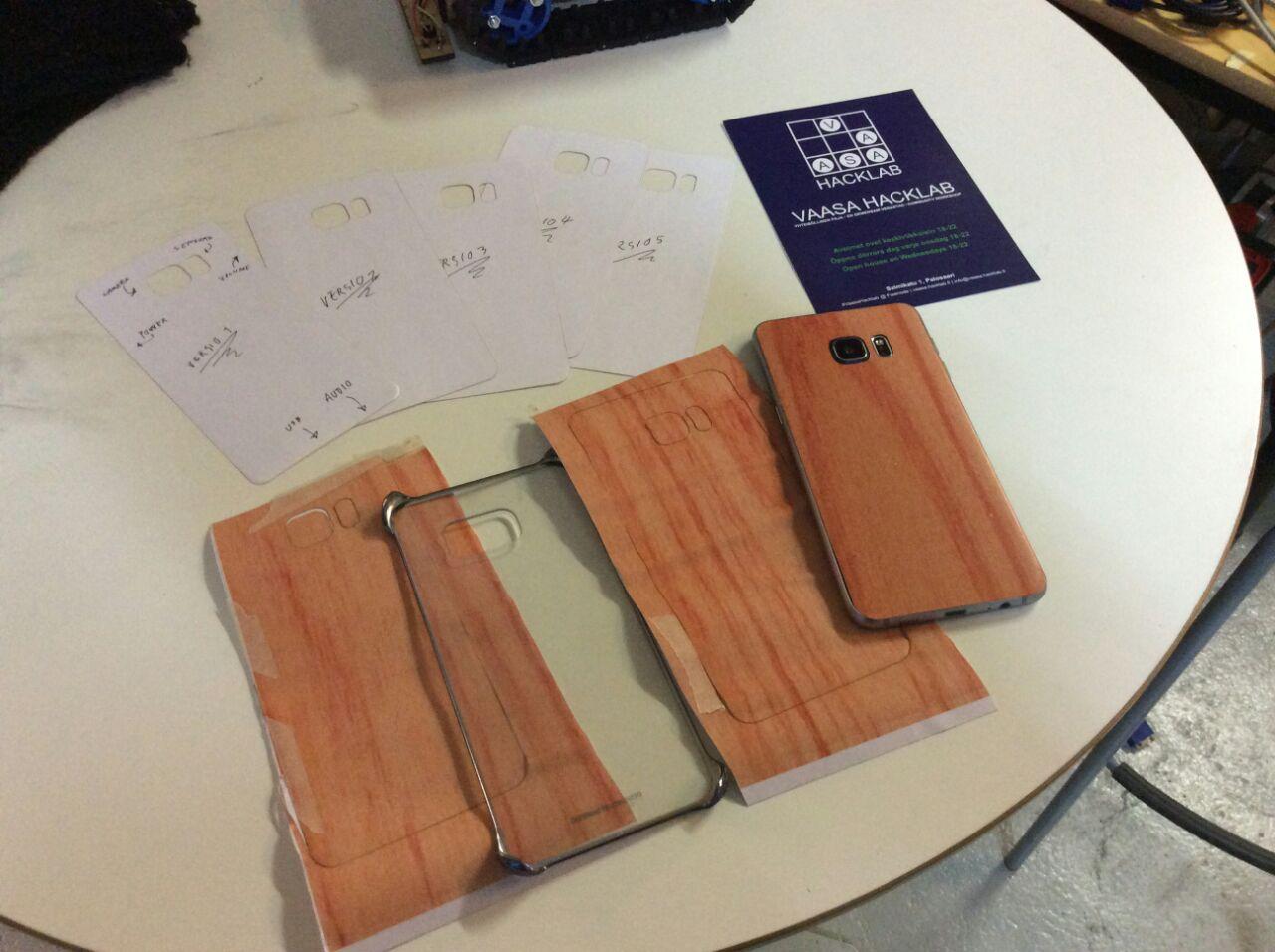 Phone fake wood paneling